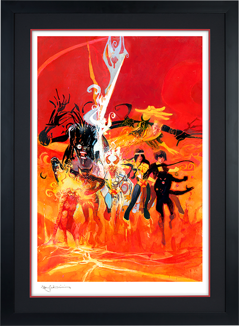 Bill Sienkiewicz New Mutants Art Print