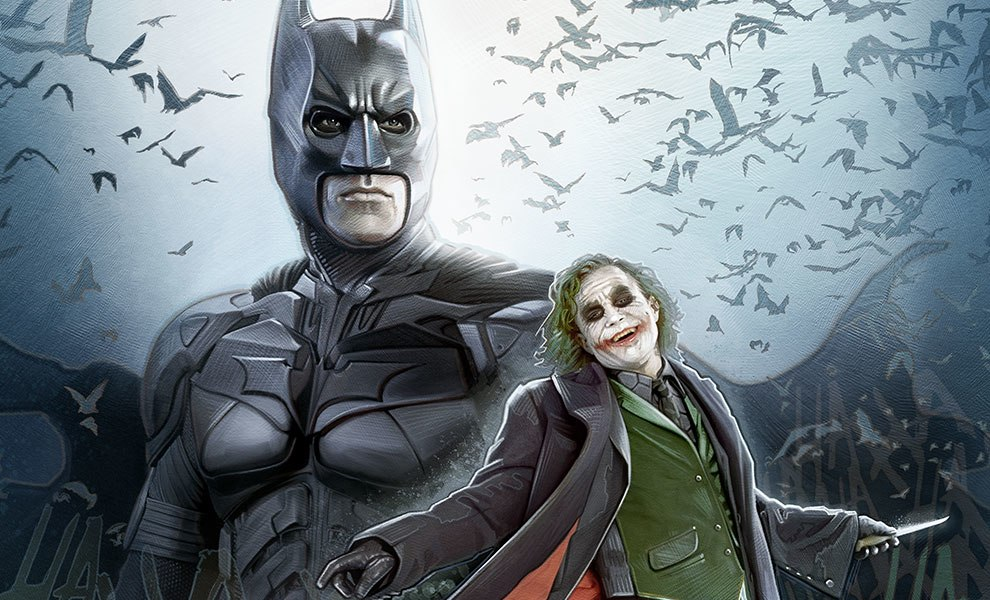 Gallery Feature Image of Batman The Dark Knight Art Print - Click to open image gallery