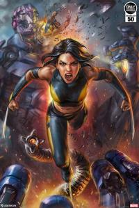 Gallery Image of X-23 HD Aluminum Metal Variant Art Print