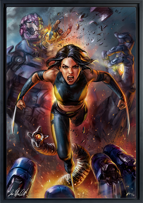 Sideshow Collectibles X-23 HD Aluminum Metal Variant Art Print