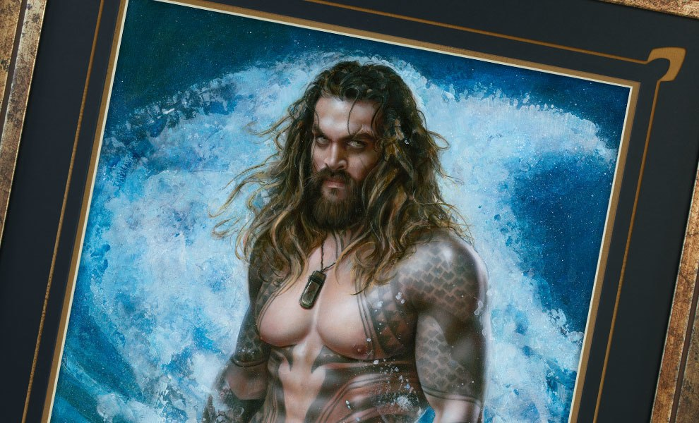 Gallery Feature Image of Aquaman Permission to Come Aboard Art Print - Click to open image gallery