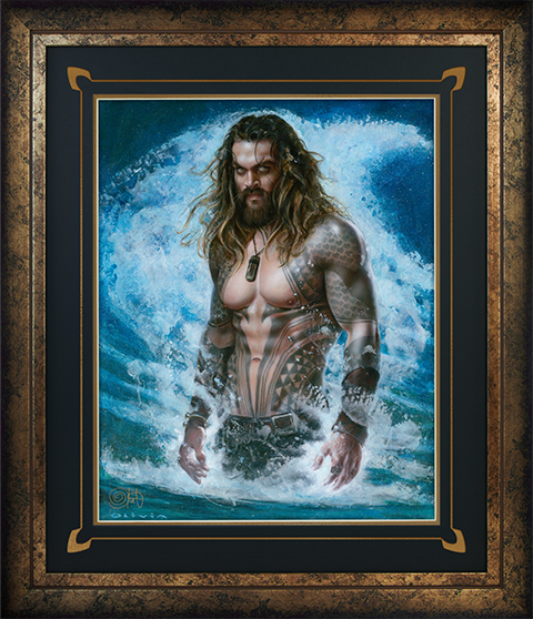 Ozone Productions Aquaman Permission to Come Aboard Art Print