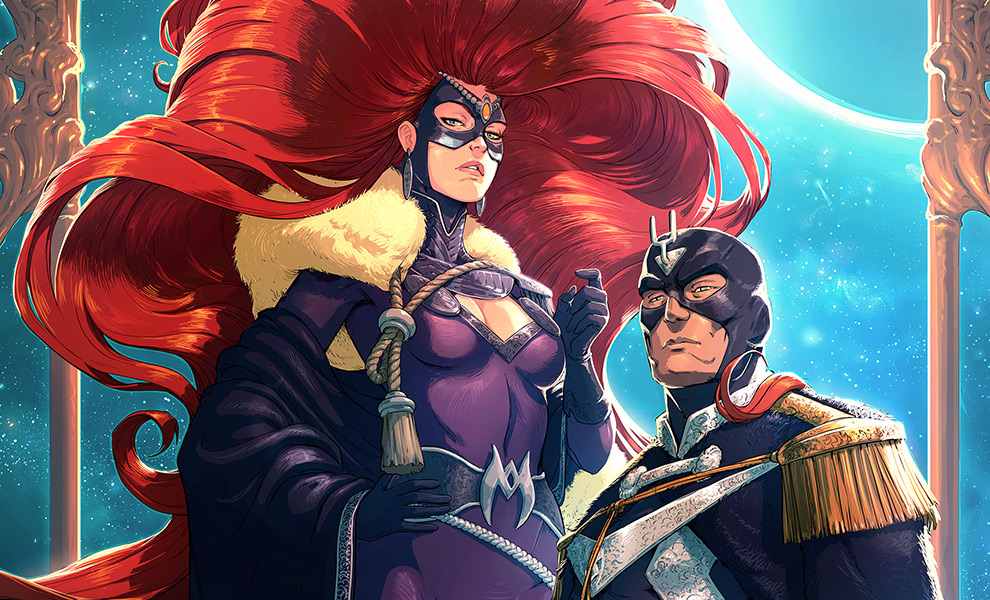 Gallery Feature Image of Black Bolt & Medusa Art Print - Click to open image gallery
