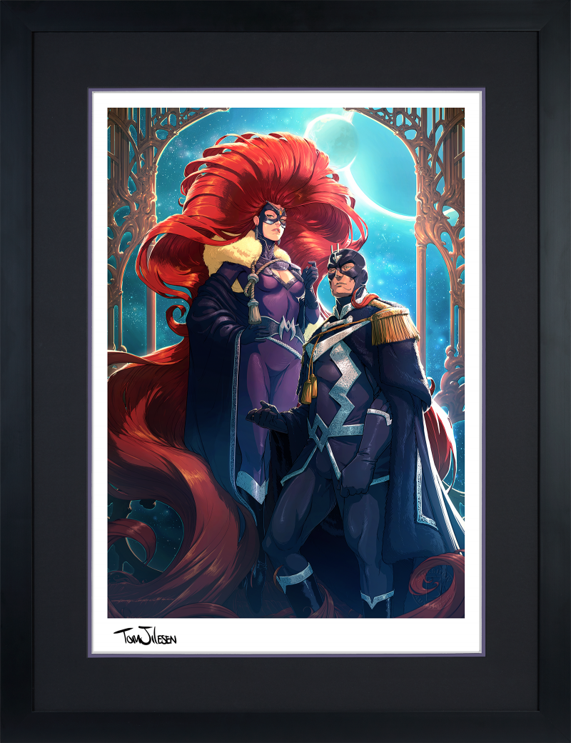 Black Bolt & Medusa Art Print -