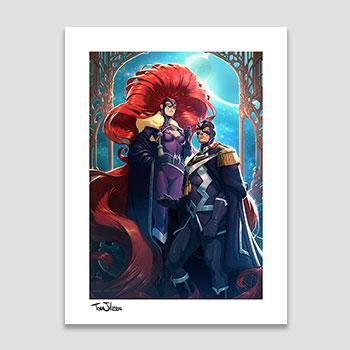 Black Bolt & Medusa Art Print
