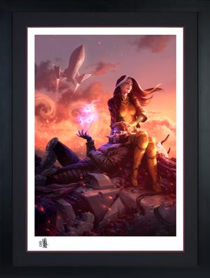 Rogue & Gambit Art Print