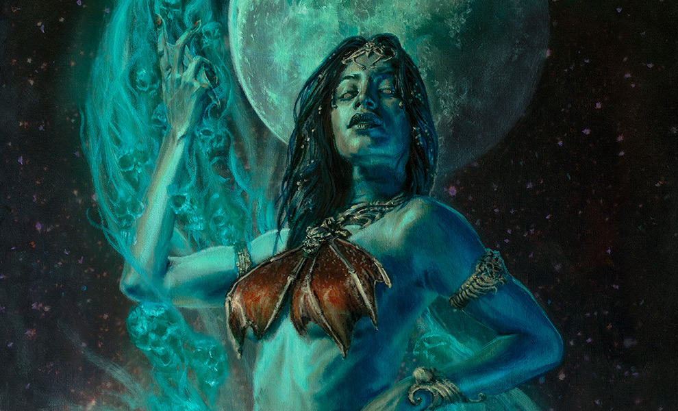 Gallery Feature Image of Gallevarbe: Beyond the Veils Art Print - Click to open image gallery