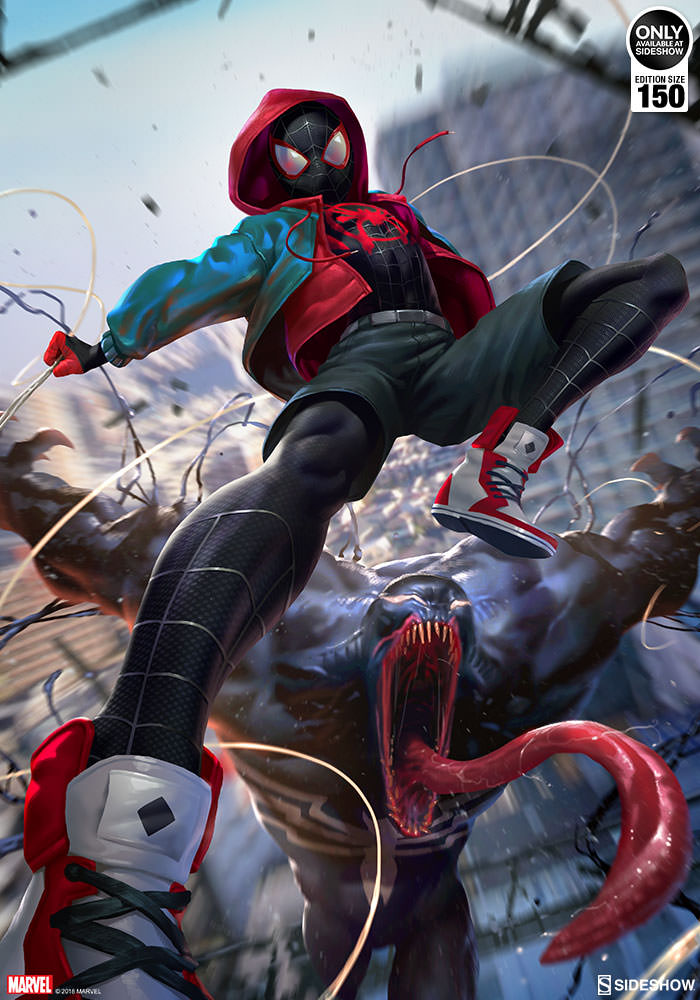 Marvel Ultimate Spider-Man Venom War Art Print by Sideshow ...