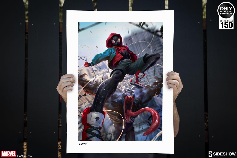 Marvel Ultimate Spider,Man Venom War Art Print by Sideshow C