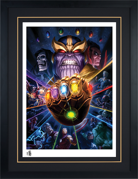 Sideshow Collectibles Thanos & Infinity Gauntlet Art Print