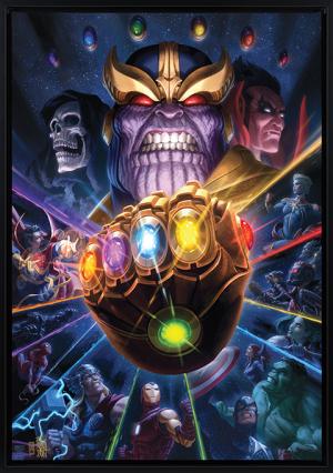 Thanos & Infinity Gauntlet Art Print