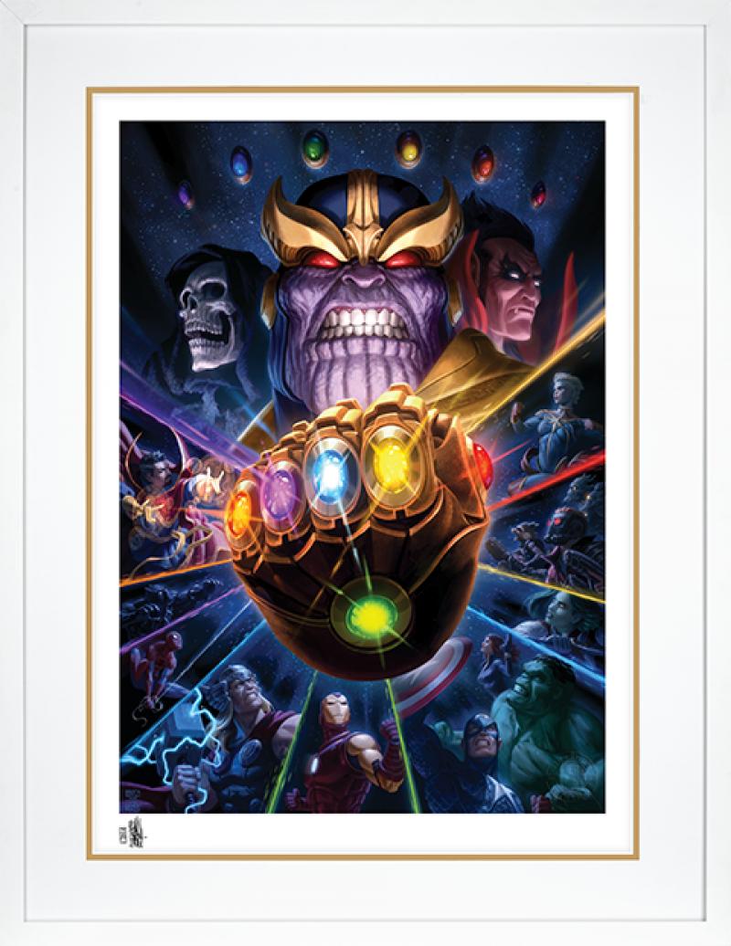 Thanos & Infinity Gauntlet Art Print -
