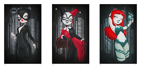 Sideshow Collectibles Gotham Girls Art Print