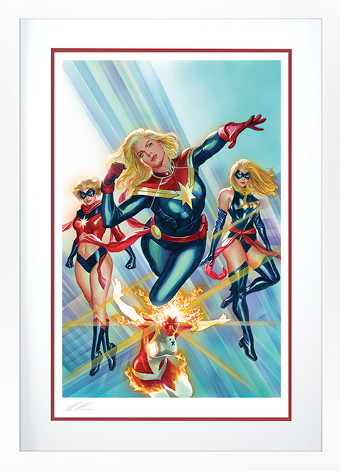 Alex Ross Art Captain Marvel #1 Art Print