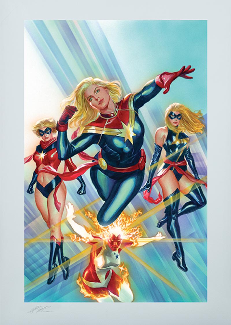 Fine Art Print Captain Marvel