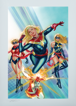Captain Marvel #1 Art Print