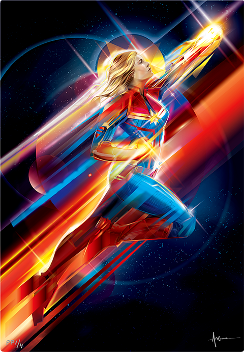 Sideshow Collectibles Higher, Further, Faster HD Aluminum Metal Variant Art Print