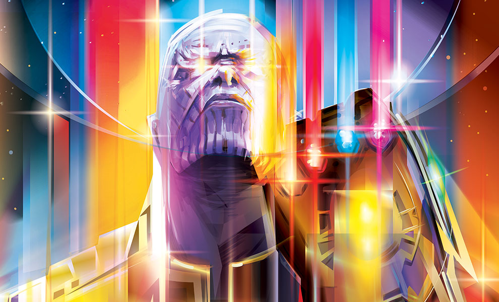 Gallery Feature Image of Thanos Infinity War HD Aluminum Metal Variant Art Print - Click to open image gallery