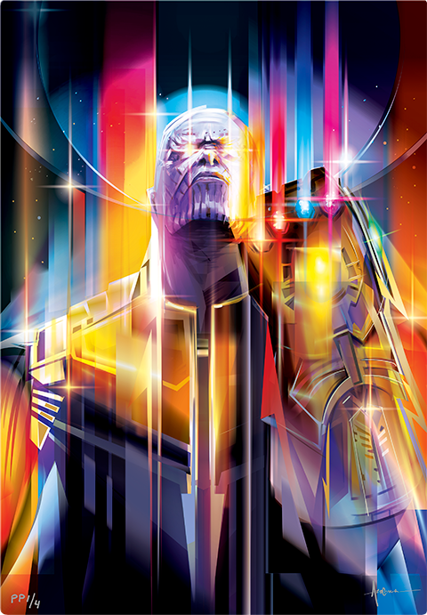 Sideshow Collectibles Thanos Infinity War HD Aluminum Metal Variant Art Print