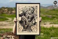 Gallery Image of Spider-Man Print on Wood Variant Art Print