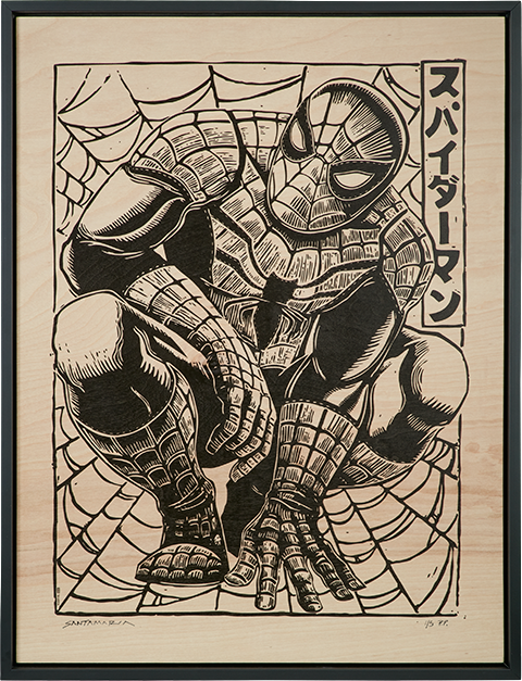 Sideshow Collectibles Spider-Man Print on Wood Variant Art Print