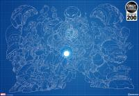 Gallery Image of Hulkbuster Blueprint Variant Art Print