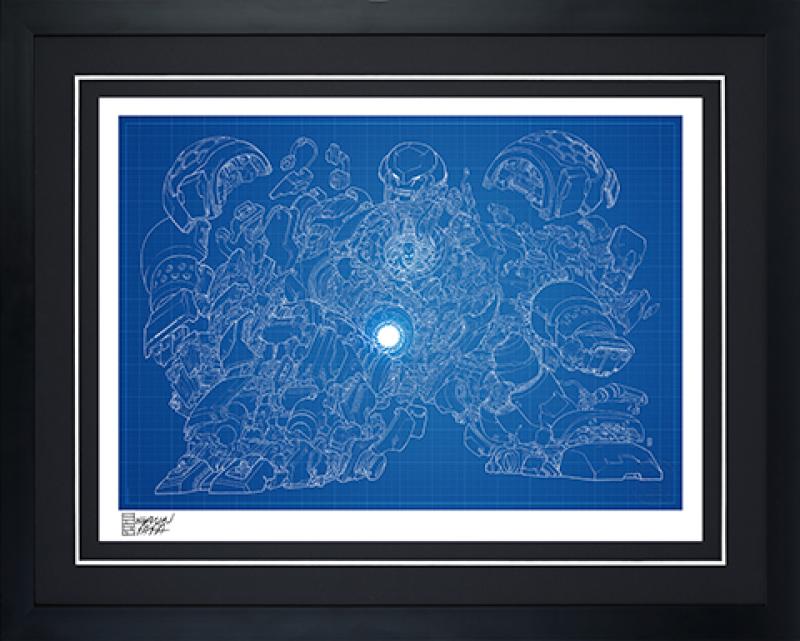 Hulkbuster Blueprint Variant Art Print -