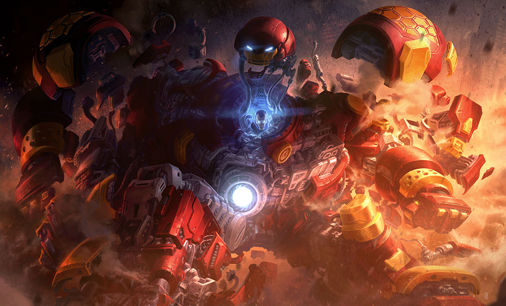 Gallery Feature Image of Hulkbuster Art Print - Click to open image gallery