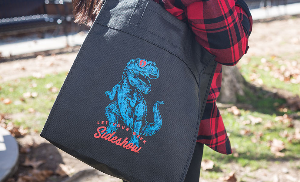 Gallery Feature Image of Dino Let your Geek Sideshow Tote Apparel - Click to open image gallery