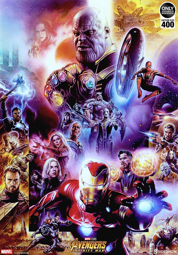 the avengers infinity war fine art printtsuneo sanda