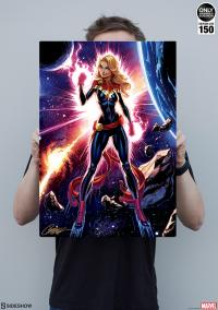 Gallery Image of Captain Marvel HD Aluminum Metal Variant Art Print