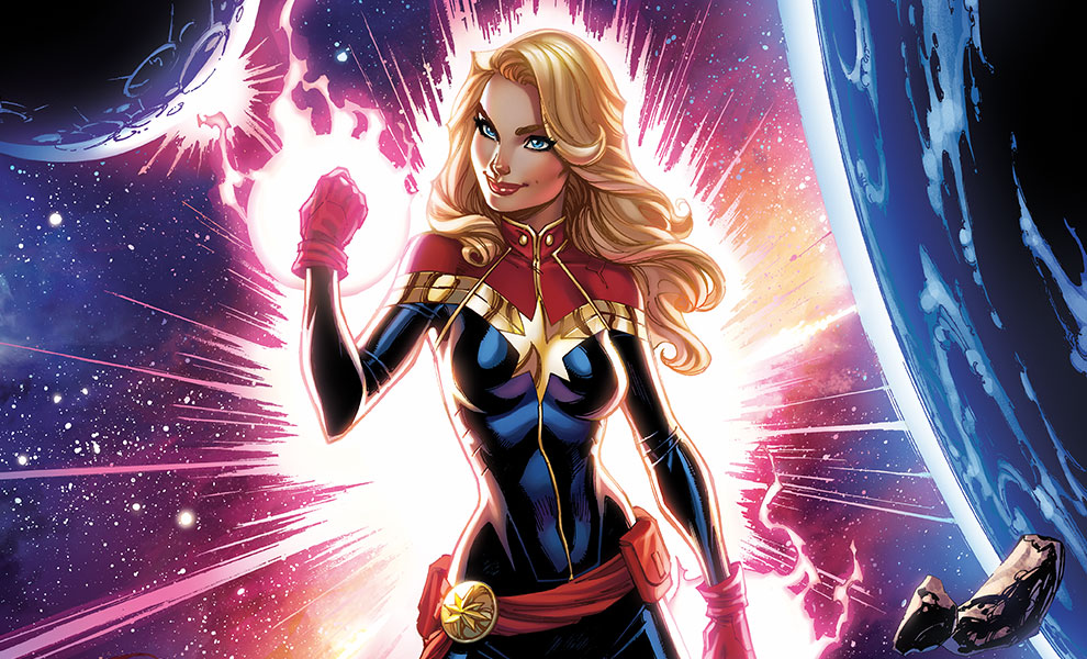 Gallery Feature Image of Captain Marvel HD Aluminum Metal Variant Art Print - Click to open image gallery