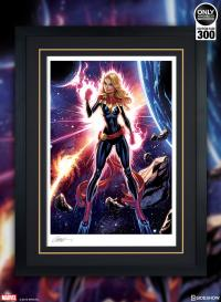 Gallery Image of Captain Marvel Art Print