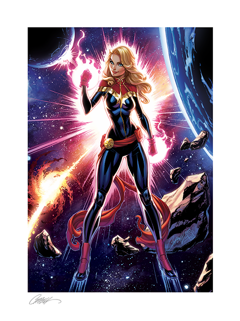 Sideshow Collectibles Captain Marvel Art Print