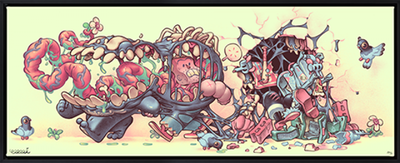 Venom: The Symbiote Stroll Art Print -