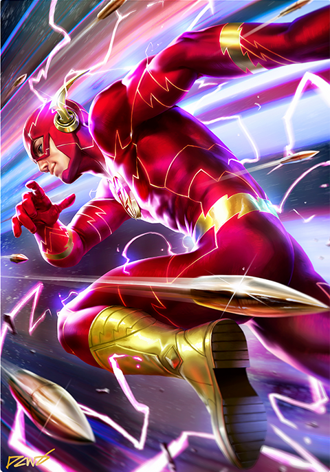 Sideshow Collectibles The Flash HD Aluminum Metal Variant Art Print