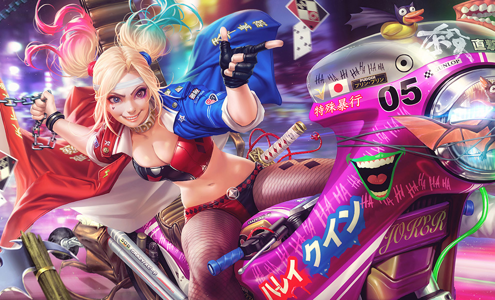 Gallery Feature Image of Tokyo Harley Quinn Art Print - Click to open image gallery