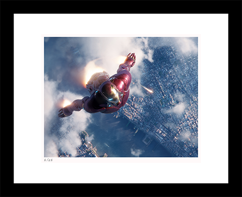 Classic Stills Iron Man Rescues Spider-Man Art Print