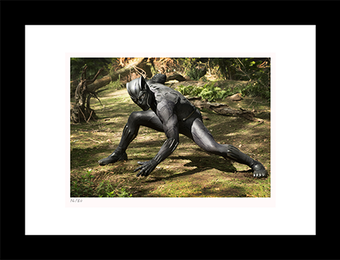 Classic Stills Black Panther on Set Art Print