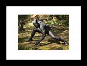 Black Panther on Set Art Print