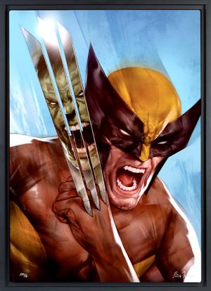 The Incredible Hulk vs Wolverine Art Print