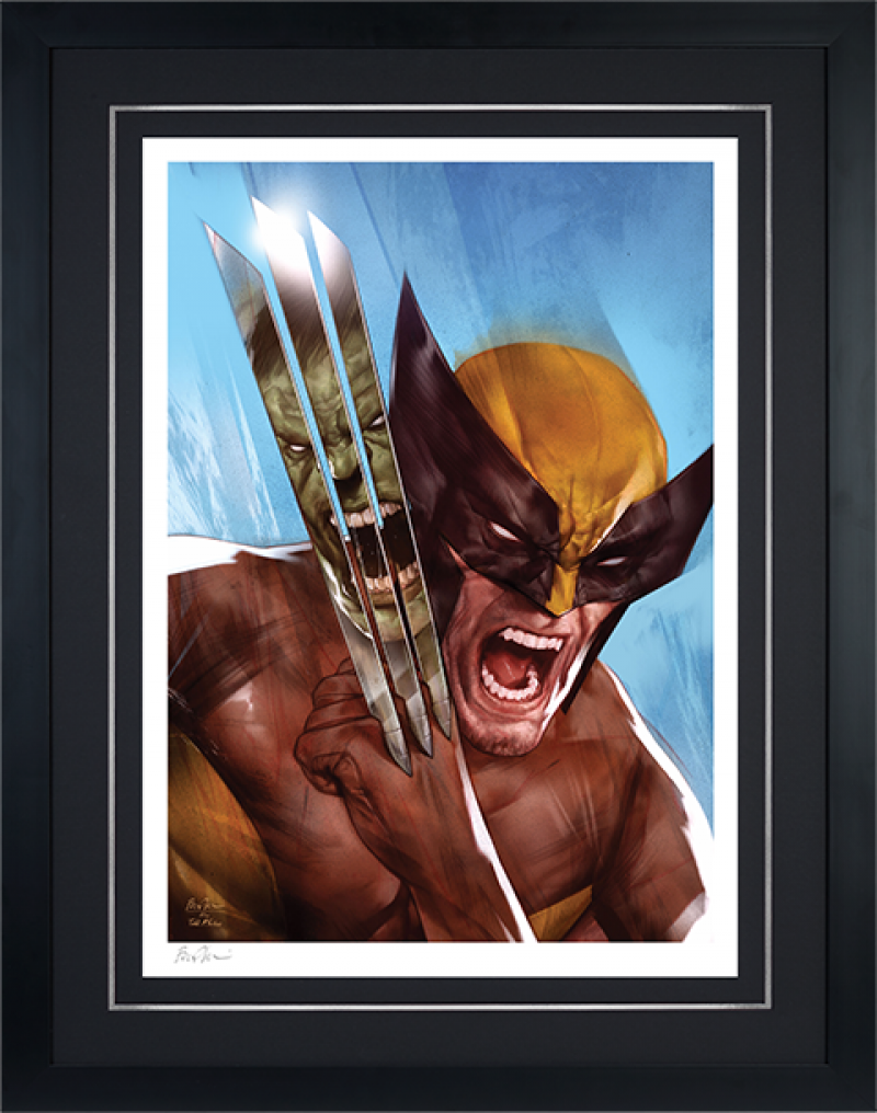 The Incredible Hulk vs Wolverine Art Print -