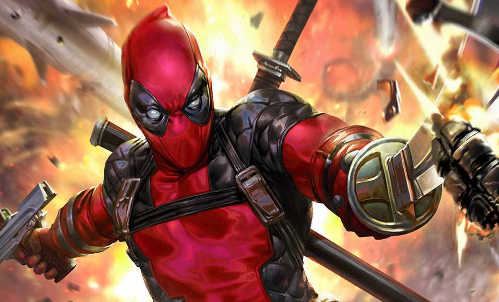 Deadpool: Heat-Seeker HD Aluminum Metal Variant Art Print feature image