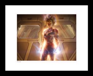 Using Her Power Art Print