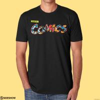 Gallery Image of Raised by Comics T-shirt Apparel