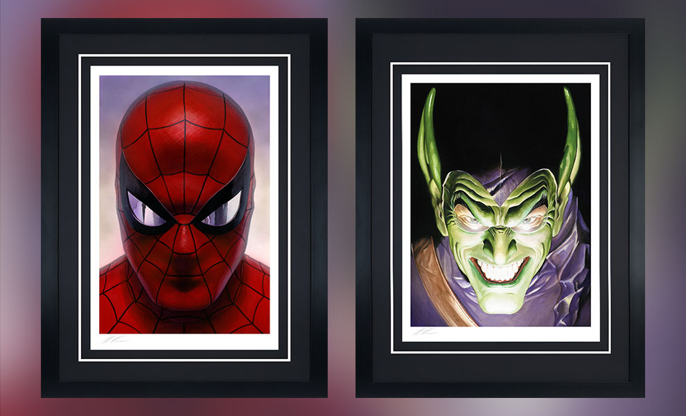 Gallery Feature Image of Spider-Man: Portraits of Heroism & Green Goblin: Portraits of Villainy Set Art Print - Click to open image gallery