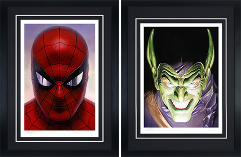 Alex Ross Art Spider-Man: Portraits of Heroism & Green Goblin: Portraits of Villainy Set Art Print