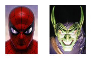 Spider-Man: Portraits of Heroism & Green Goblin: Portraits of Villainy Set Art Print