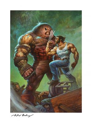 Juggernaut VS Wolverine Art Print