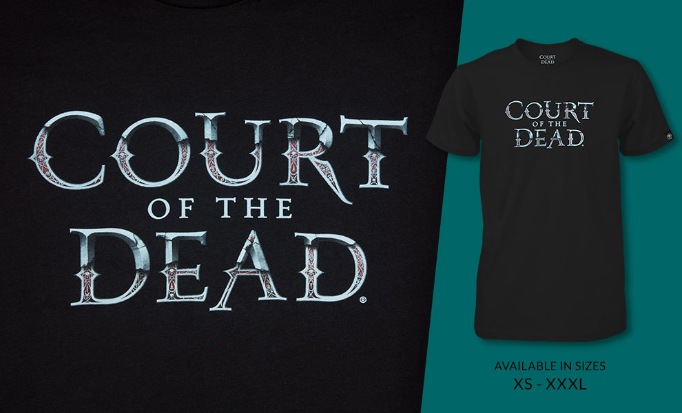 Gallery Feature Image of Court of the Dead Eternal T-Shirt Apparel - Click to open image gallery